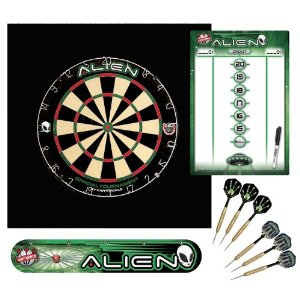 Area 51 Alien Dart Board Deluxe Kit Unique Christmas Gift Ideas