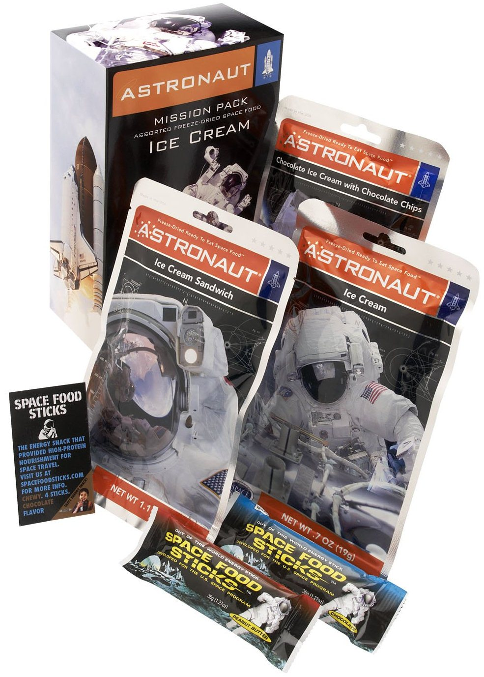 Best NASA Gift Idea Mission Pack Astronaut Food Sampler Pack