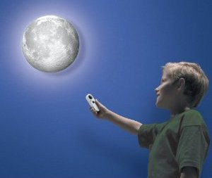 Phase Changing Full Moon Wall Light with Remote
