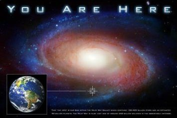 UFO Wisconsin Stores You Are Here Poster Outer Space Store