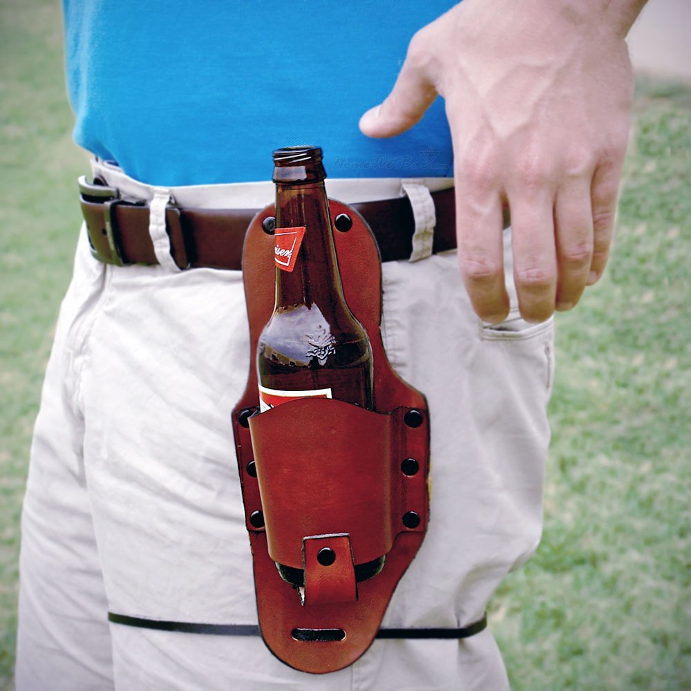 Beer bottle holster best gift idea of 2012