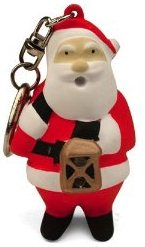 Keychain LED Flashlight Santa Clause for sale