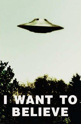 "X-Files Poster ""I Want To Believe"" for sale"